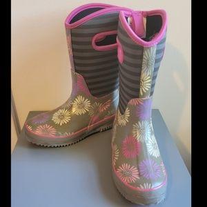 Girls Rain / Snow Pull Up Boots